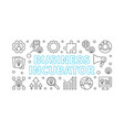 business incubator horizontal linear banner vector image vector image