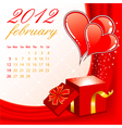 calendar for 2012 february vector image