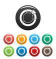 circle chart icons set collection circle vector image vector image