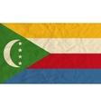 Comoros paper flag vector image