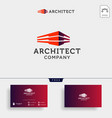 construction architect logo design icon element vector image vector image