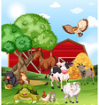 Farm animals living on the farm vector image vector image