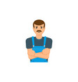 flat mechanic man icon vector image vector image