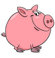 funny pig character cartoon vector image vector image