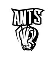 furious ant sport black and white isolated vector image
