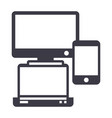 gadgetsnotebook smartphone line icon vector image