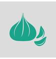 Garlic icon vector image vector image