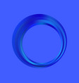 gradient ring is blue fashionable frame logo vector image vector image