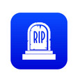 gravestone with rip text icon digital blue vector image vector image