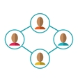 group people connected unity communication vector image
