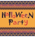 Happy Halloween card with African ornament design vector image vector image