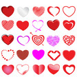 heart style set vector image vector image