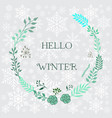 hello winter background vector image