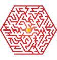 hexagon maze vector image vector image