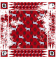horse red rough rug square design vector image vector image