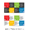 infographic set in color with symbol vector image vector image
