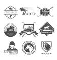 Jockey Label Set vector image vector image