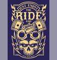 Just enjoy the ride biker art