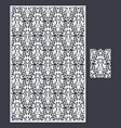 laser cut panel and the seamless pattern vector image vector image