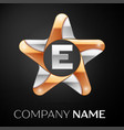 letter e logo symbol in the colorful star on black vector image vector image