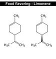 Limonene - food and cosmetic flavor enhancer vector image vector image