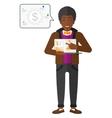 Man presenting report vector image vector image