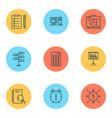 management icons set with cash flow decision vector image