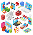 online shopping e-commerce technology with vector image vector image