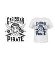 pirate corsair t-shirt print filibuster privateer vector image