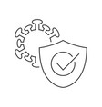 protection against coronavirus line icon on white vector image vector image