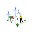renewable energy - modern colorful isometric vector image vector image
