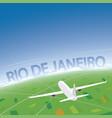 rio de janeiro flight destination vector image vector image
