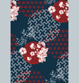 sakura traditional geometric pattern sketch line vector image vector image