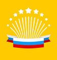Salute and flag of Russia Fireworks and Patriotic vector image vector image