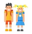 School kid character vector image vector image