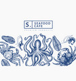 seafood design template hand drawn seafood vector image vector image