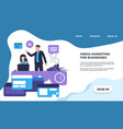 seo landing page online service promotion vector image vector image