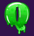 slime font type letter q latin alphabet green vector image vector image