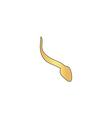 Sperm computer symbol vector image vector image