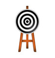 target in black and white design vector image vector image