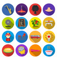 trip desert rest and other web icon in flat vector image