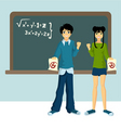 two students vector image vector image