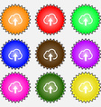 Upload from cloud icon sign A set of nine vector image