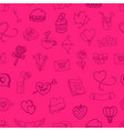 valentines day elements seamless background vector image vector image