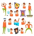 Various phobias icons set cartoon style vector image