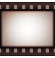 Vintage retro old film strip background vector image vector image