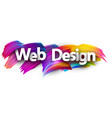 web design paper poster with colorful brush vector image vector image