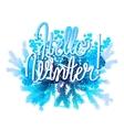 Winter frozen design vector image vector image