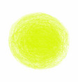 yellow crayon scribble texture stain isolated on vector image vector image