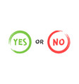 yes or no brush signs symbols yes or no vector image